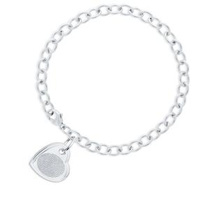 Silver Bracelet with Finger print
